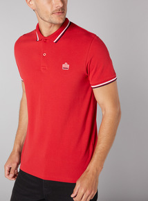 Admiral Red Football Polo Shirt