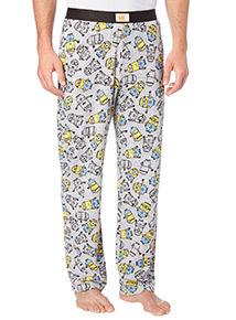Grey Minions Pyjama Bottoms