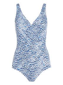 Blue Wrap Swim Suit