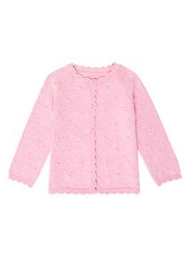 Pink Ottoman Spot Cardigan (0-12 months)