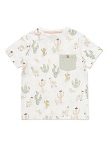 Multicoloured Cactus Print T-Shirt (9 months-6 years)