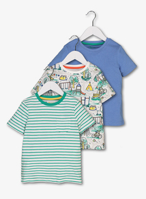 Multicoloured Playground T-Shirts 3 Pack (1-6 Years)