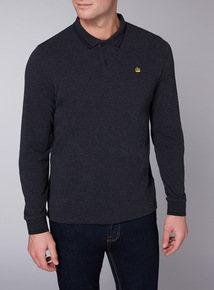 Admiral Charcoal Long Sleeve Polo