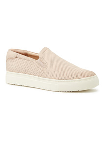 Premium Leather Pink Skater Shoes