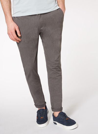 Slim Fit Grey Chinos With Stretch