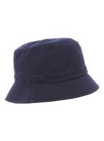 Navy Reversible Bucket Hat