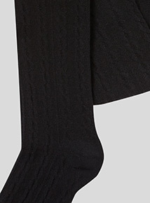 Black Cable Knit Tights 3 Pack (2-12 years)
