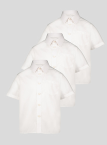 5c752445d67 White Unisex Plus Fit School Shirts 3 Pack (3 - 12 Years)