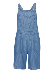 Mid Blue Tencel Dungarees