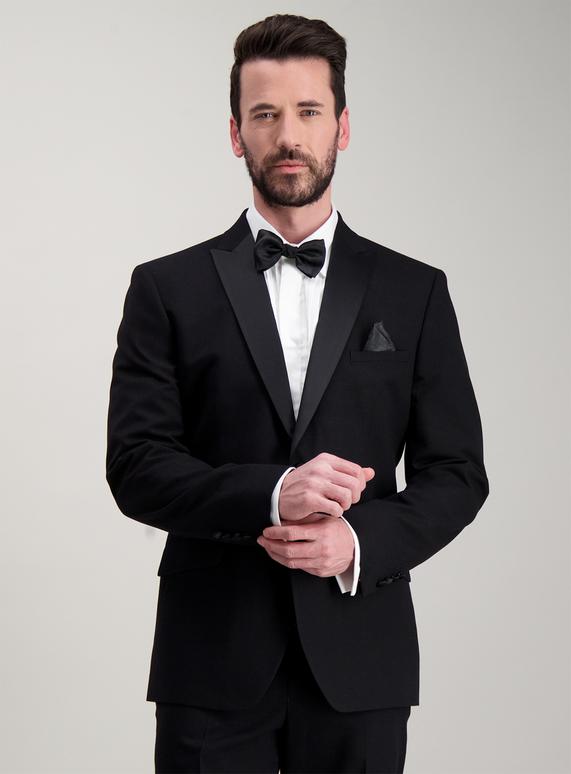d4e6335350c Menswear Black Two Button Tailored Fit Tuxedo Dinner Suit Jacket ...