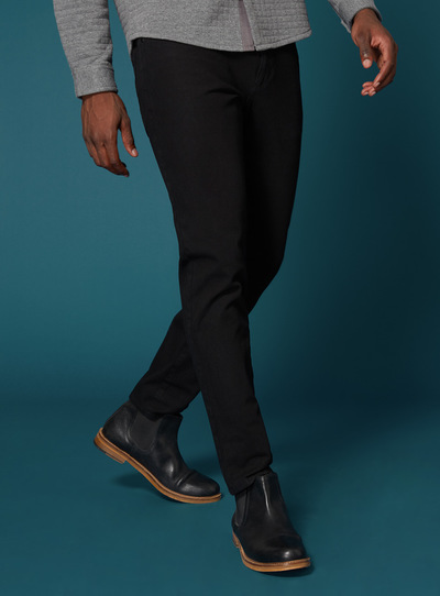 Premium Black Tapered Jean With 360 Degree Stretch