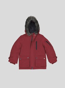 Burgundy Parka Coat (3-14 years)