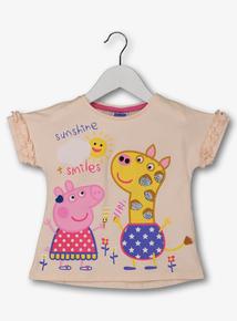 cf82758b183b1a Peppa Pig Pink Sequinned T-Shirt (9 Months - 6 Years)