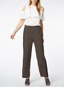 Multicoloured Chain Pattern Trousers