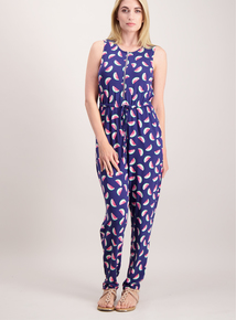 Multicoloured Watermelon Print Jumpsuit