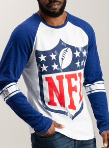 NFL Logo White Long Sleeve T-Shirt
