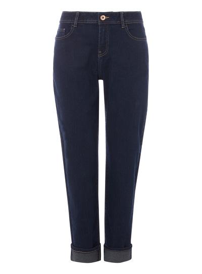 Dark Denim Girlfriend Stretch Jeans