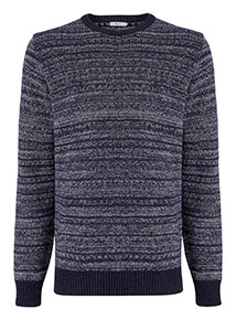 Navy Marl Crew Neck Jumper