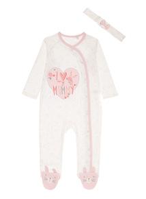 Girls White Sleepsuit (0-24 months)