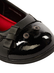 ToeZone Coated Leather Ladybird Shoes