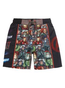 Multicoloured Disney Marvel Swim Shorts (3 - 12)