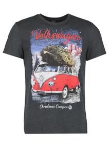 Christmas Volkswagen Grey T-Shirt