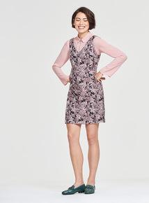 2-in-1 Jacquard Pinny Dress