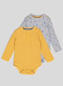 Multicoloured Long Sleeve Bodysuits 2 Pack (0-24 months)