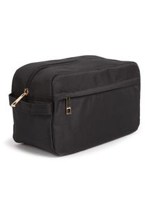 Black Canvas Wash Bag