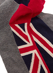 5 Pack Multicoloured All Over Union Jack Stay Fresh Socks