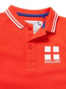 Red England Polo Shirt (3-14 years)