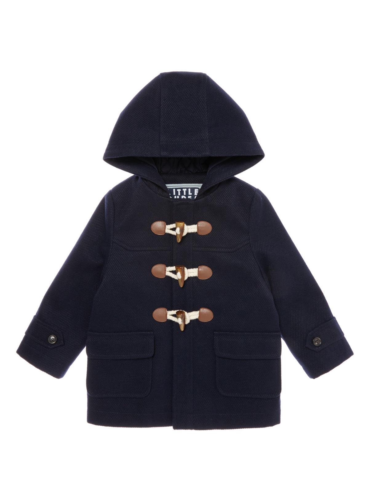 Kids Navy Duffle Coat Han Coats