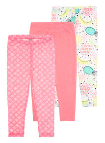 Neon Leggings 3 Pack (3 - 12 years)
