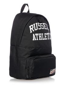 Russell Athletic Black Back Pack White Logo