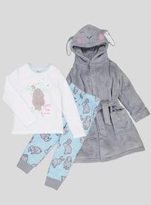 Multicoloured Pyjamas & Robe Set (18 months - 10 years)