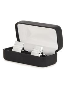 Online Exclusive Silver Lined Trim Cufflinks