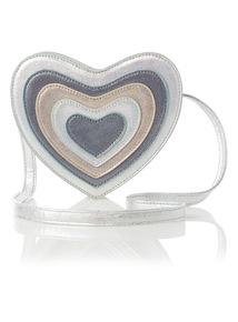 Silver Glitter Heart Bag