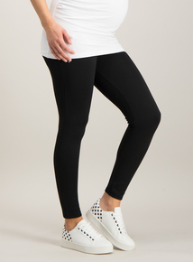 973e6fda78b Online Exclusive Maternity Black Zip Leggings