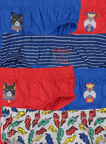 Multicoloured 'Hero in Training' Briefs 10 Pack (18 months - 7 years)