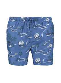 Blue Palm Tree & Surfer Board Shorts