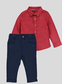 Multicoloured Shirt & Trouser Set (0-24 Months)