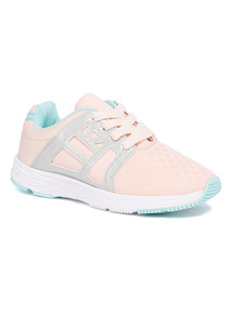 Pink Star Embossed Trainers