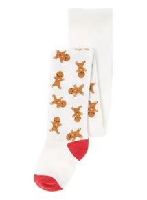 White Gingerbread Tights (0 - 24 months)