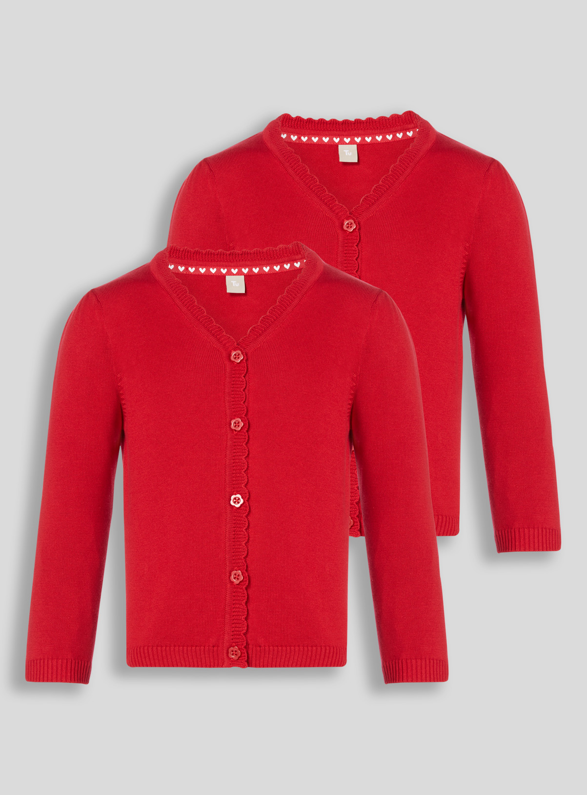 All Girl's Clothing Red Cardigan 2 Pack (3-16 years) | Tu clothing