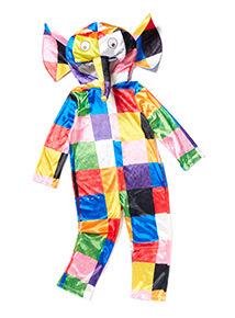 Multicoloured Elmer the Patchwork Elephant Costume (1-6 years)