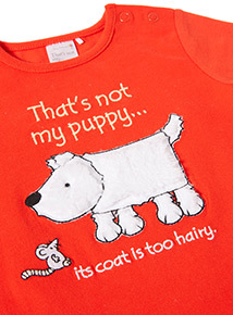 Red Thats Not My Puppy Bodysuit (Newborn-24 months)
