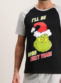 The Grinch Grey 'I'll  Be Good Next Year' Pyjamas