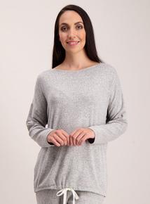 Grey Marl Lounging Pyjama Top