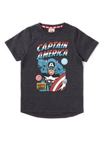 Multicoloured Captain America T-Shirt (3-14 years)