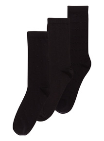 Black Trouser Socks 3 Pack